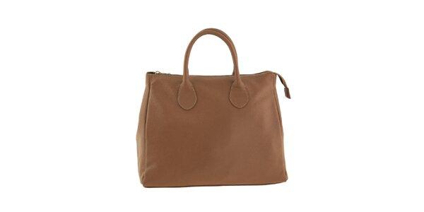 Dámská hnědá taška se zipem Valentina Italy