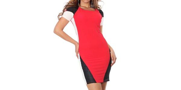 Dámské červeno-černo-bílé šaty Nelita
