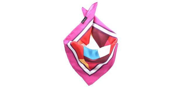 Dámský pestrobarevný hedvábný šátek Fraas