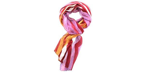 Dámský šátek s červenými pruhy Fraas