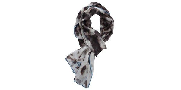 Dámský světlý šátek s flíčky Fraas