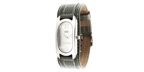 Dámské hodinky se zeleným páskem Elite 6e1776c360