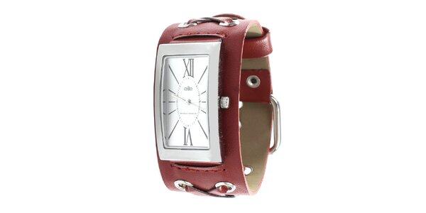 Dámské hodinky s červeným řemínkem Elite