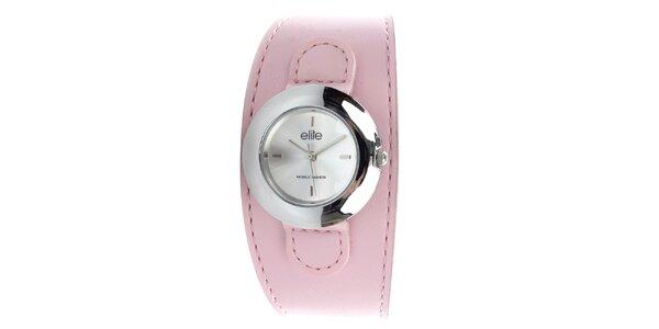 Dámské hodinky s růžovým řemínkem Elite 444e409fa3