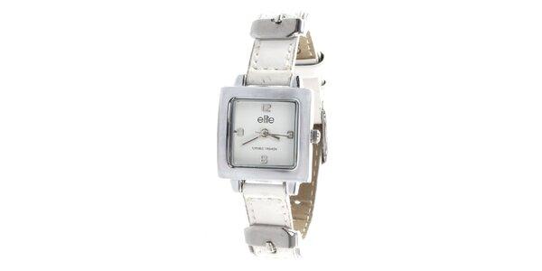 Dámské minimalistické hodinky s bílým řemínkem Elite