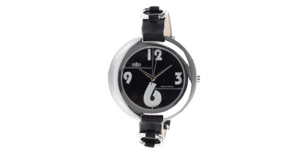 Dámské hodinky s černým ciferníkem Elite