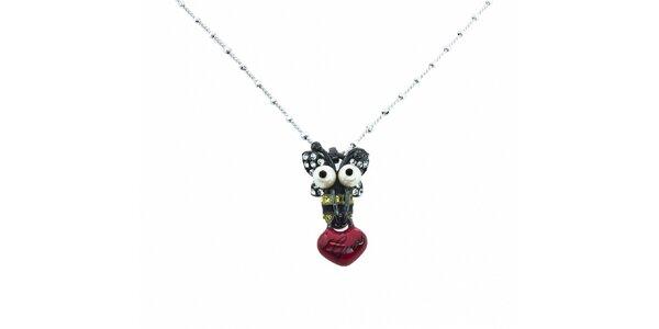 Dámský ocelový náhrdelník Guess s přívěskem