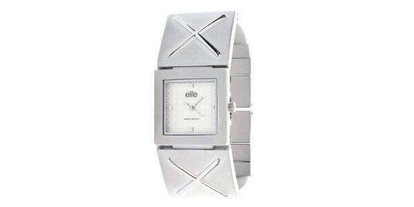 Dámské hodinky se čtvercovým ciferníkem ve stříbrné barvě Elite