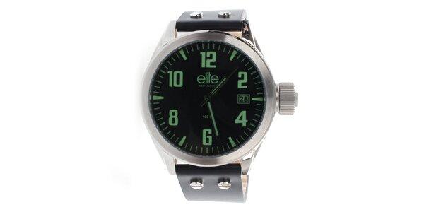 Pánské hodinky se zelenými indexy Elite