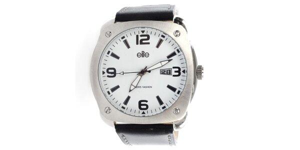 Pánské hodinky s bílým ciferníkem Elite