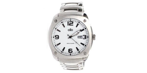Pánské ocelové hodinky s datumovkou Elite
