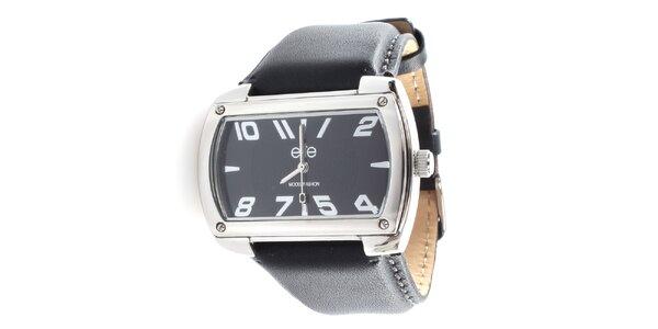 Pánské hodinky s obdélníkovým tmavým ciferníkem Elite