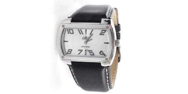 Pánské hodinky s obdélníkovým světlým ciferníkem Elite