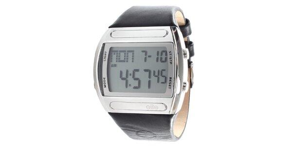 Pánské digitální hodinky s černým páskem Elite