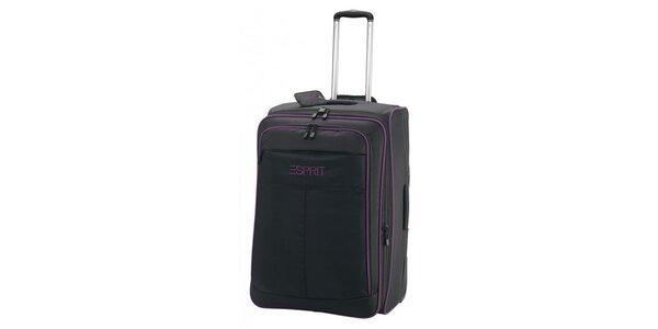 Kufr s fialovým lemováním na kolečkách ESPRIT