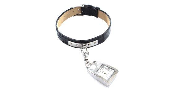 Dámské hodinky z nerezové oceli s karabinkou Elite
