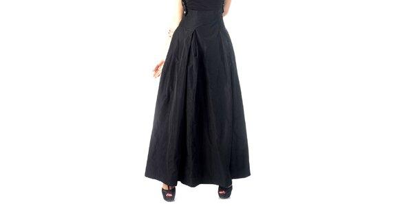 Dámská dlouhá černá sukně se šlemi Nelita