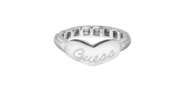 Dámský prsten se srdcem Guess
