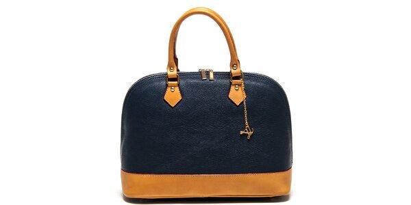 Dámská tmavomodrá kabelka s přívěskem Luisa Vannini