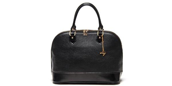 Dámská černá kabelka s přívěskem Luisa Vannini