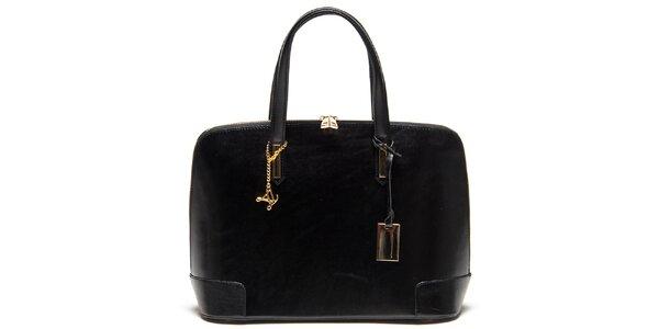 Dámská kožená kabelka v černém provedení Luisa Vannini