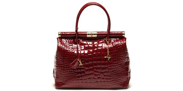 Dámská červená kabelka se zámečkem Luisa Vannini