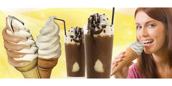 DVĚ točené zmrzliny nebo ledové kávy