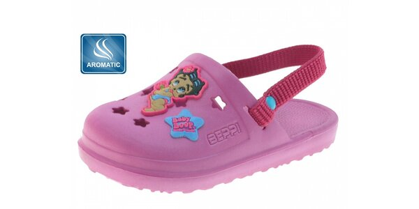 Dětské růžové gumové dřeváky Beppi