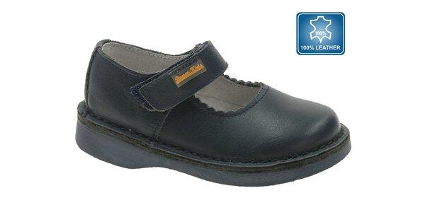 Dětské černé kožené boty Beppi