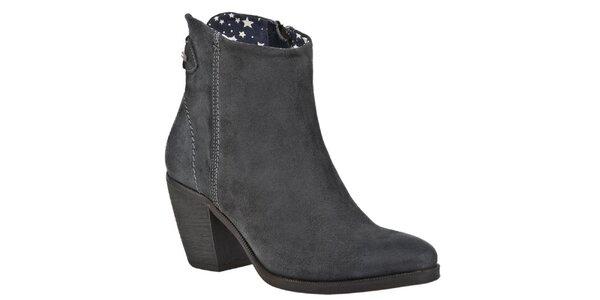 Dámské šedé kotníčkové boty Tommy Hilfiger