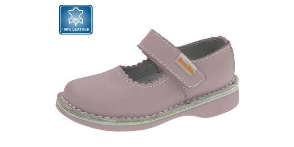 Dětské růžové kožené boty Beppi