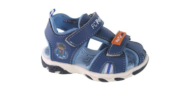 Dětské modré kožené sandálky Beppi
