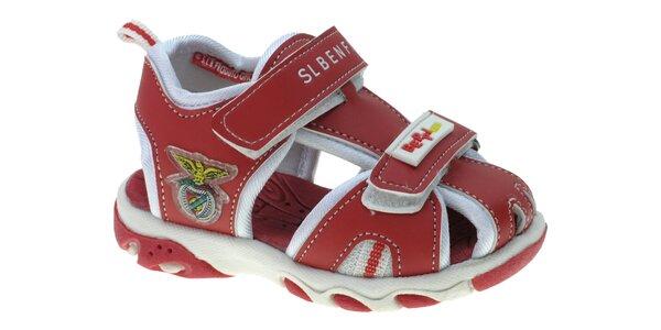 Dětské červené kožené sandálky Beppi