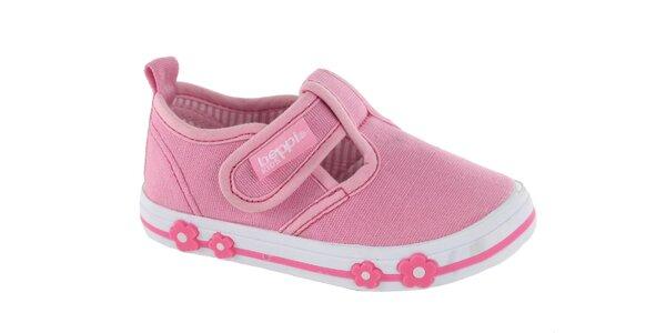 Dětské růžové plátěné kecky Beppi