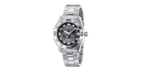 Pánské stříbrné solární hodinky Sector