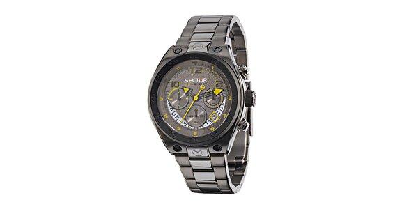 Pánské ocelově šedé hodinky Sector