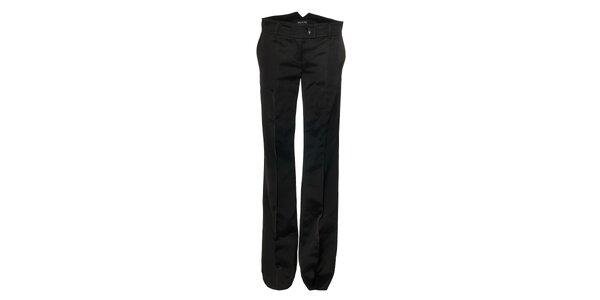 Černé lesklé dámské kalhoty Pietro Filipi