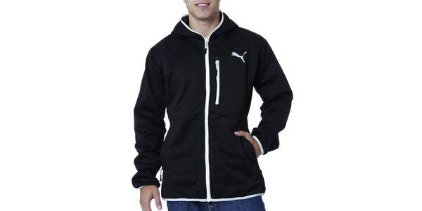 Pánská černá bunda s bílými detaily Puma