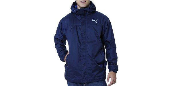 Pánská modrá bunda s kapucí a kapsami Puma