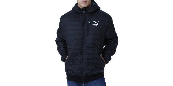 Pánská prošívaná bunda s bílým logem Puma