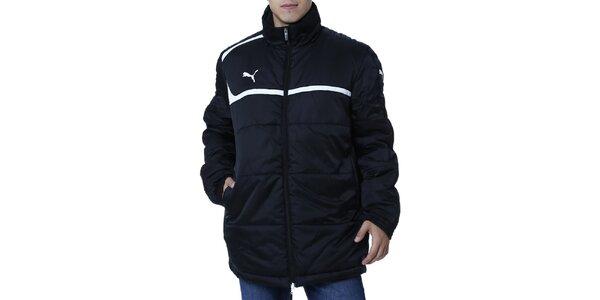 Pánská černá bunda s bílým proužkem Puma