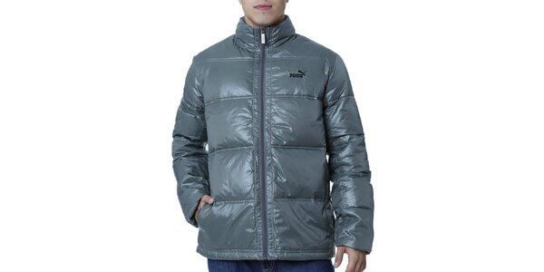 Pánská prošívaná bunda v khaki odstínu Puma