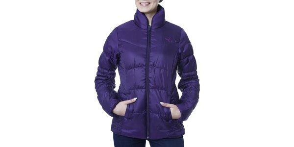 Dámská fialová bunda s límcem Puma