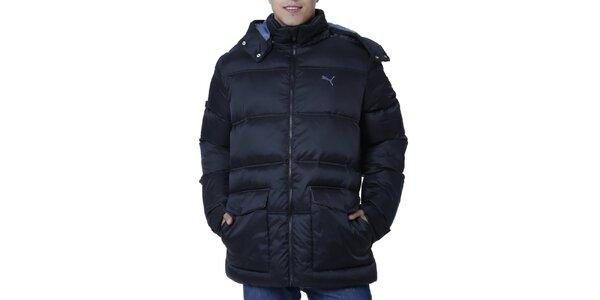 Pánská prošívaná bunda s kapucí a kapsami Puma