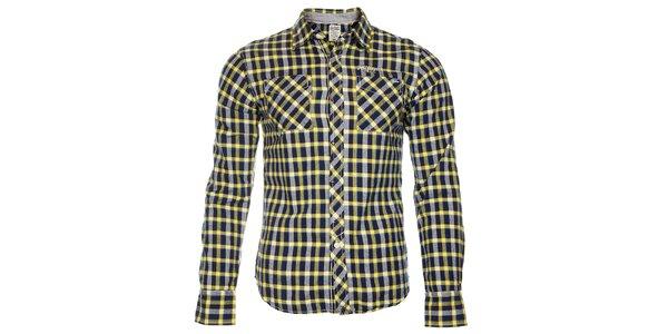 Pánská modro-žlutá kostkovaná košile Tommy Hilfiger