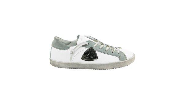 Dámské bílé tenisky s šedými prvky Nina Morena