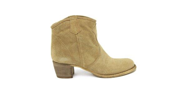 Dámské semišové kotníkové boty Nina Morena