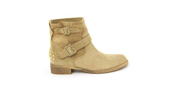 Dámské semišové boty s přezkami Nina Morena