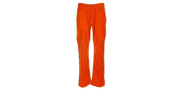 Pánské oranžové manšestráky Tommy Hilfiger