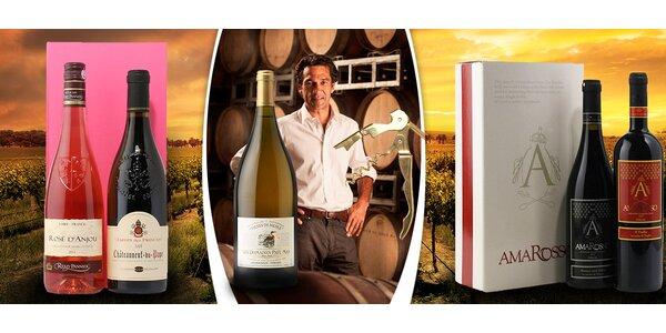 Dárková balení francouzských a italských vín